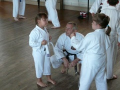 Ivor Training some of the younger Students